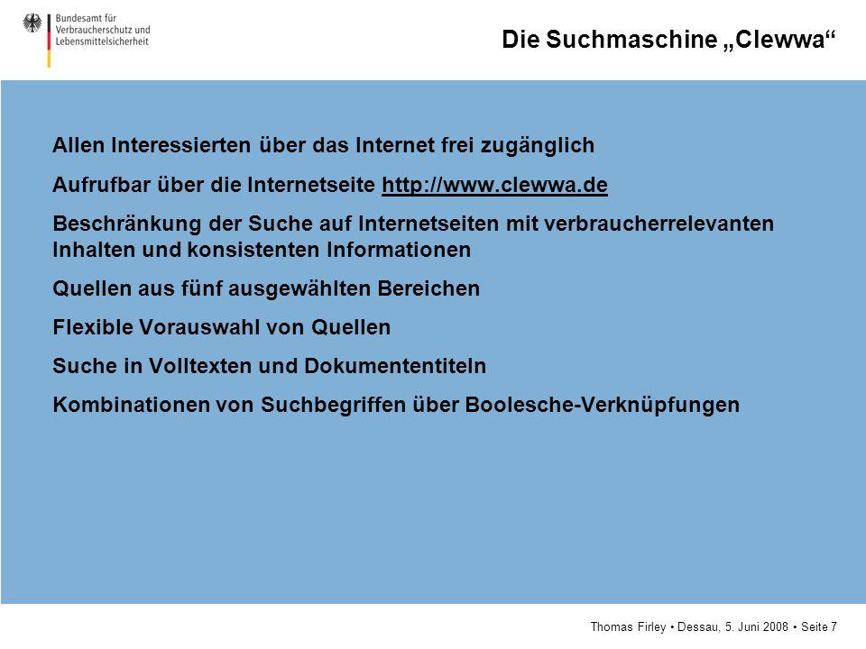 """Die Suchmaschine """"Clewwa"""