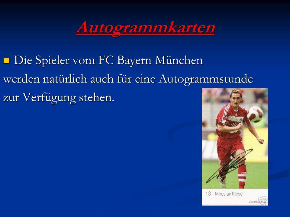 Autogrammkarten Die Spieler vom FC Bayern München