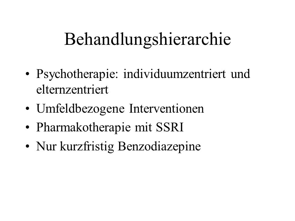 Behandlungshierarchie