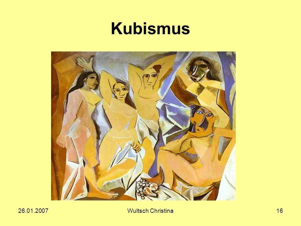 Kubismus 26.01.2007 Wultsch Christina