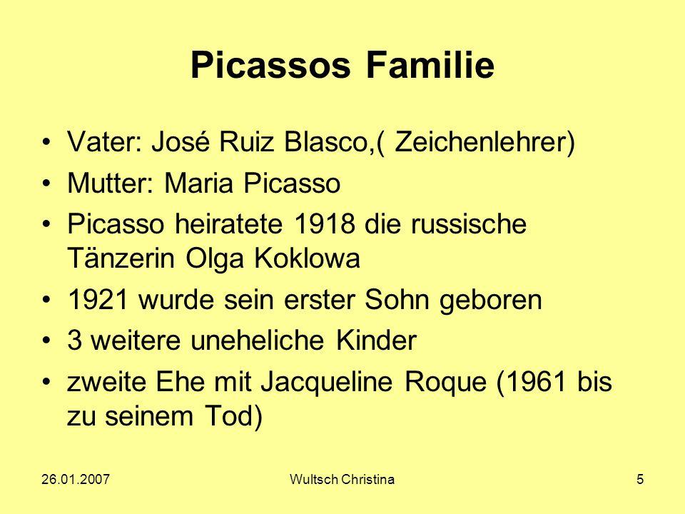 Picassos Familie Vater: José Ruiz Blasco,( Zeichenlehrer)