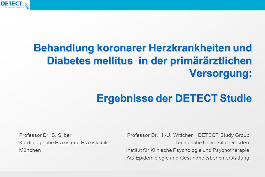 Behandlung koronarer Herzkrankheiten und Diabetes mellitus in der primärärztlichen Versorgung: Ergebnisse der DETECT Studie