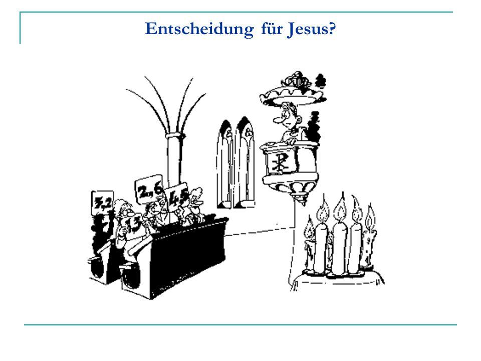 Entscheidung für Jesus