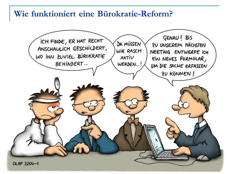 Wie funktioniert eine Bürokratie-Reform