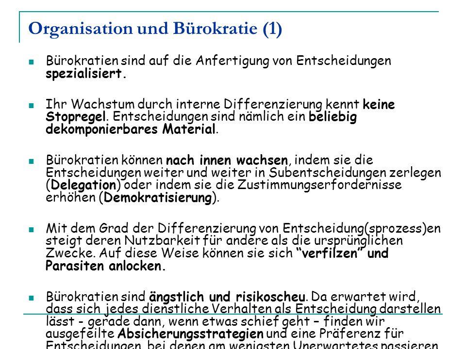 Organisation und Bürokratie (1)