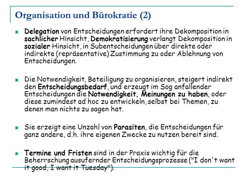 Organisation und Bürokratie (2)