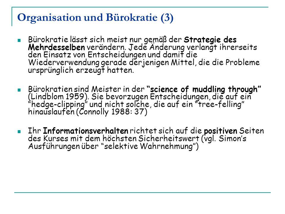 Organisation und Bürokratie (3)