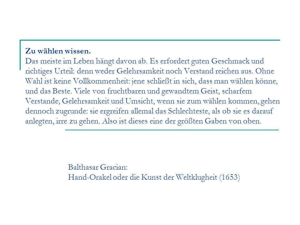 Balthasar Gracian: Hand-Orakel oder die Kunst der Weltklugheit (1653)