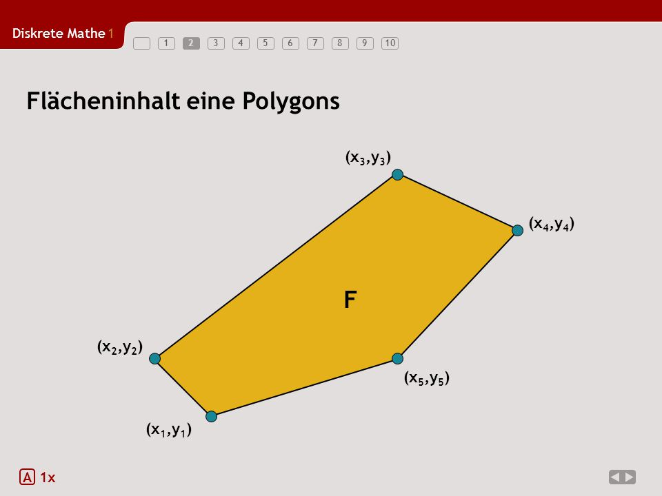 Flächeninhalt eine Polygons