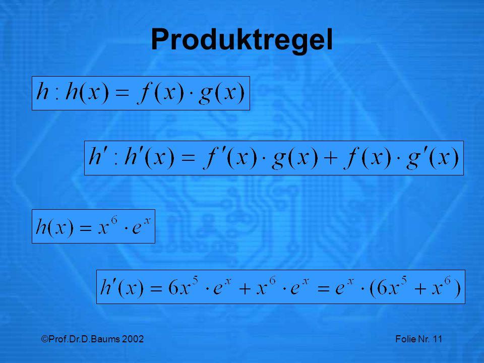 Produktregel ©Prof.Dr.D.Baums 2002