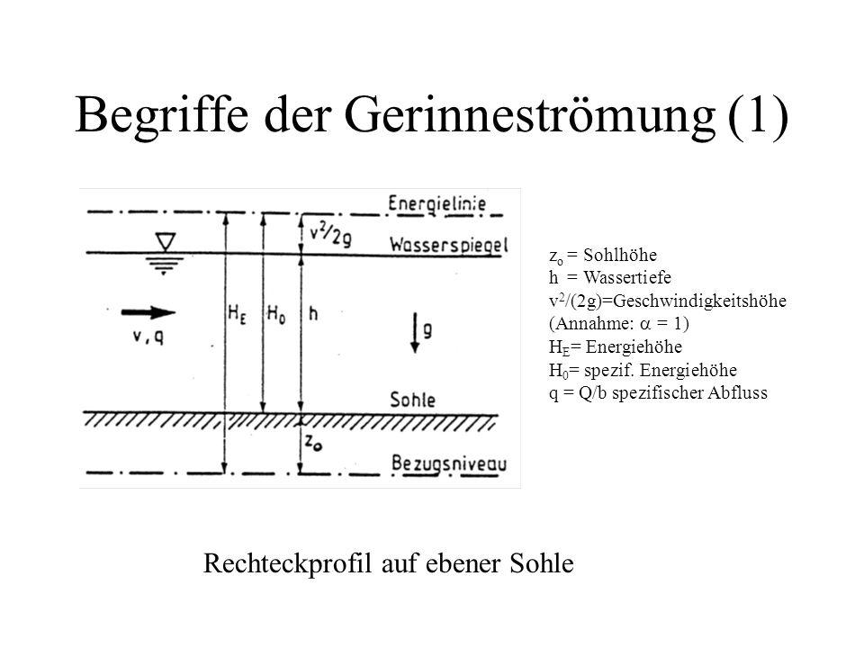 Begriffe der Gerinneströmung (1)