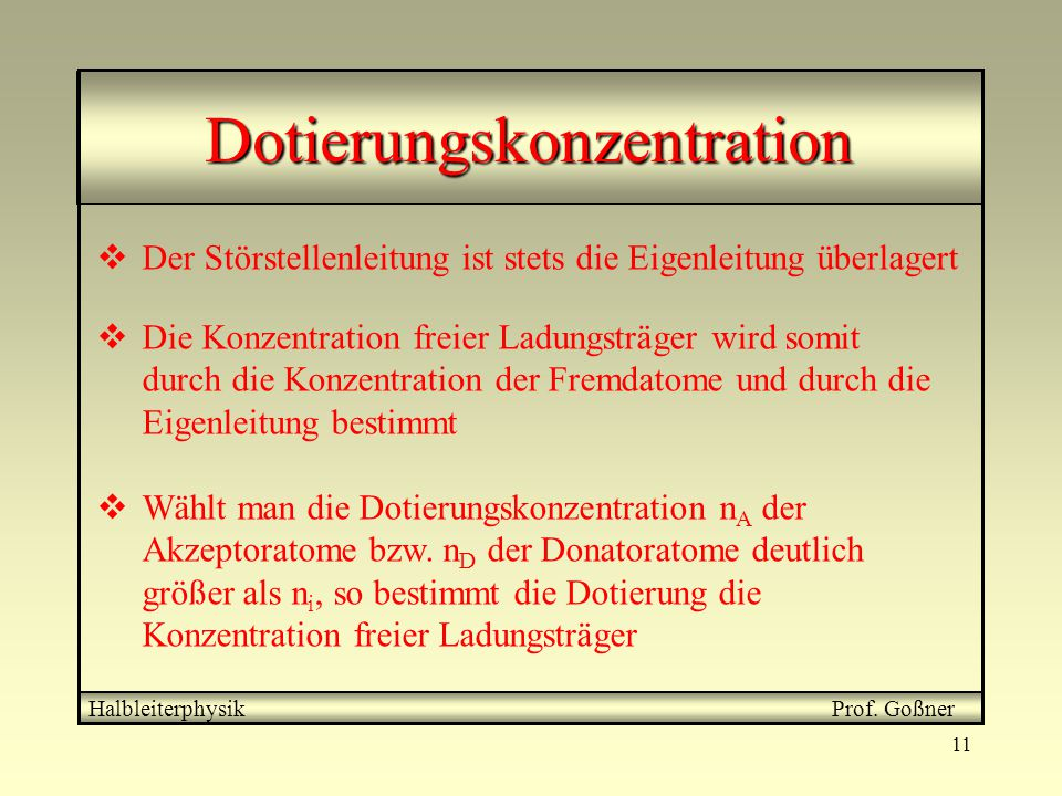 Dotierungskonzentration