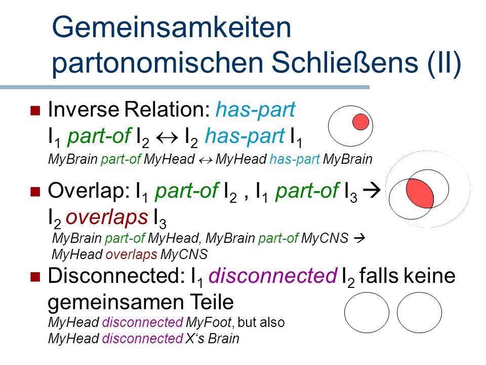 Gemeinsamkeiten partonomischen Schließens (II)