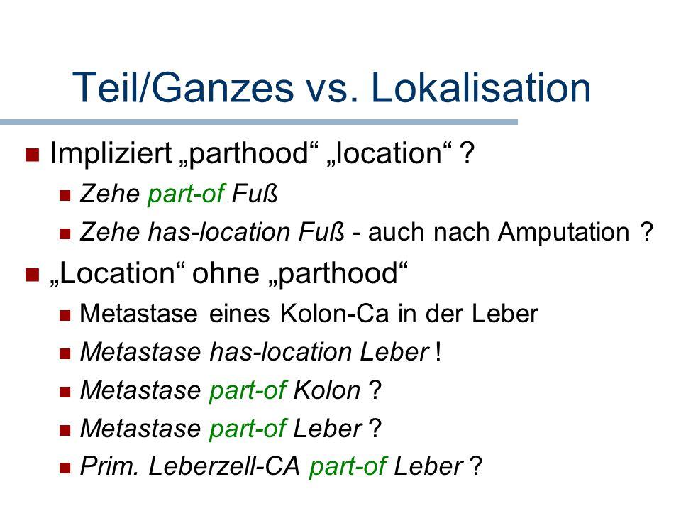 Teil/Ganzes vs. Lokalisation