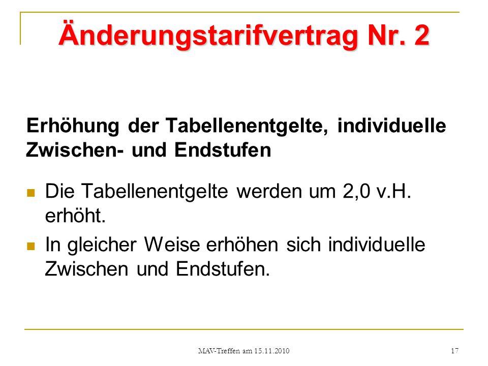 Änderungstarifvertrag Nr. 2