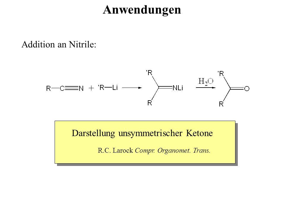Anwendungen Addition an Nitrile: Darstellung unsymmetrischer Ketone