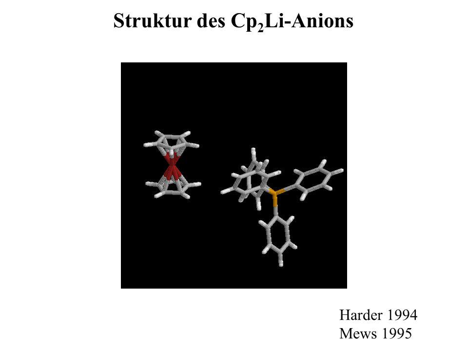 Struktur des Cp2Li-Anions