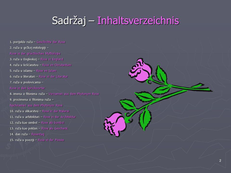 Sadržaj – Inhaltsverzeichnis