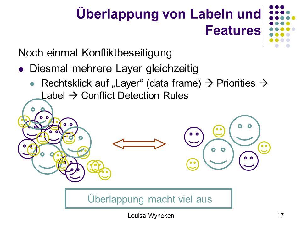 Überlappung von Labeln und Features