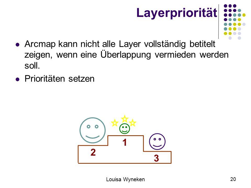 Layerpriorität Arcmap kann nicht alle Layer vollständig betitelt zeigen, wenn eine Überlappung vermieden werden soll.