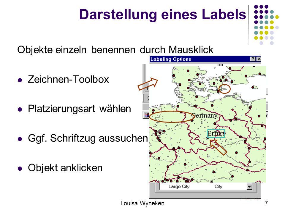 Darstellung eines Labels