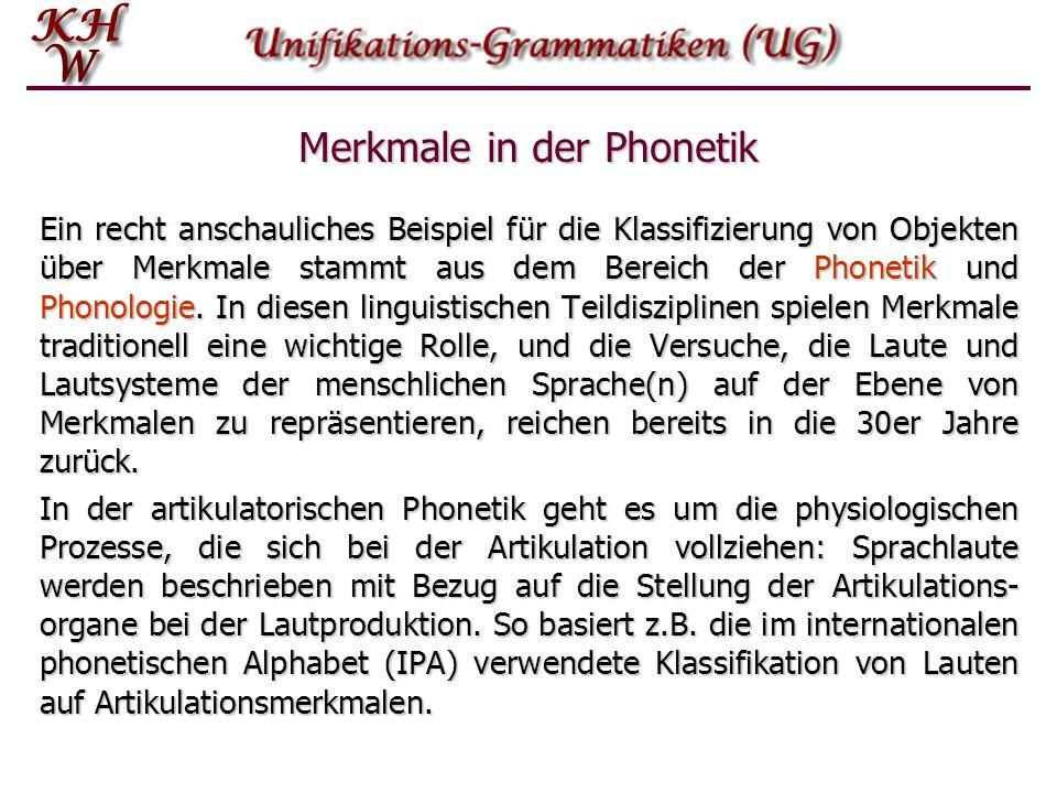 Merkmale in der Phonetik
