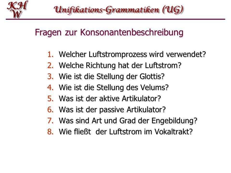 Fragen zur Konsonantenbeschreibung