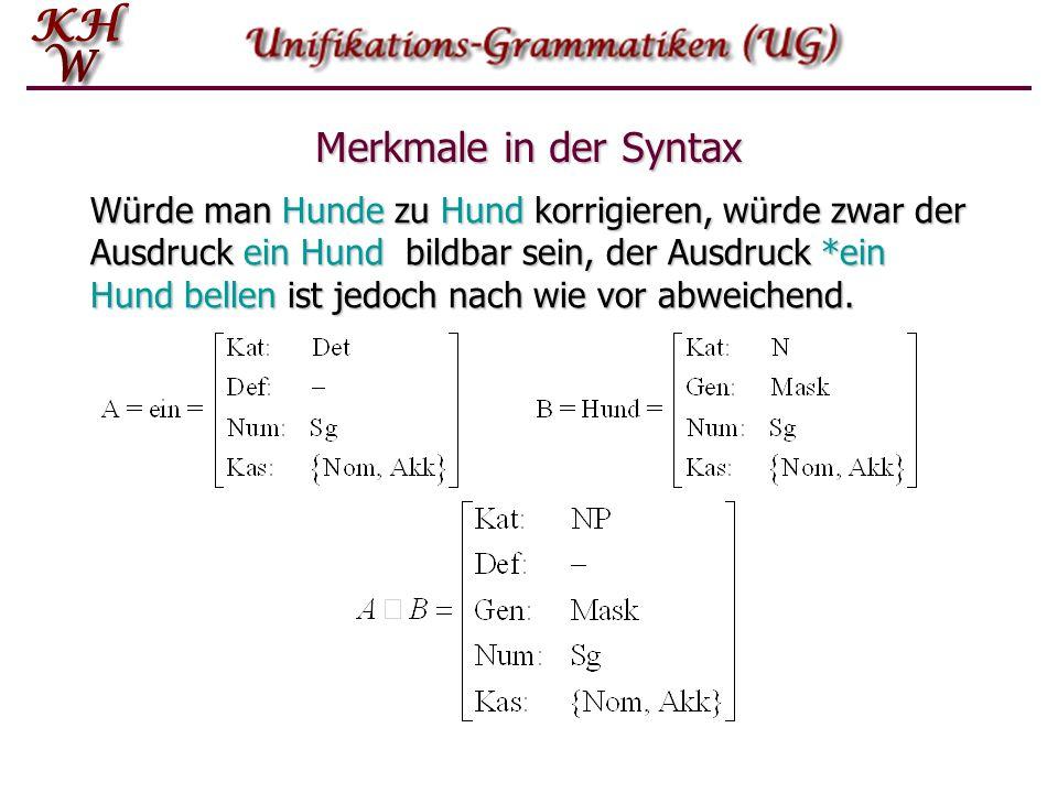 Merkmale in der Syntax