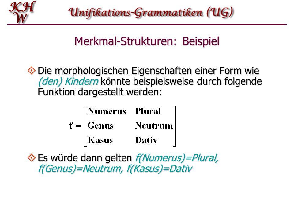 Merkmal-Strukturen: Beispiel