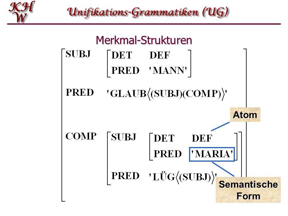 Merkmal-Strukturen Atom Semantische Form