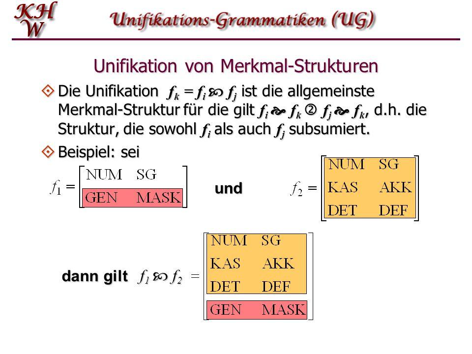 Unifikation von Merkmal-Strukturen