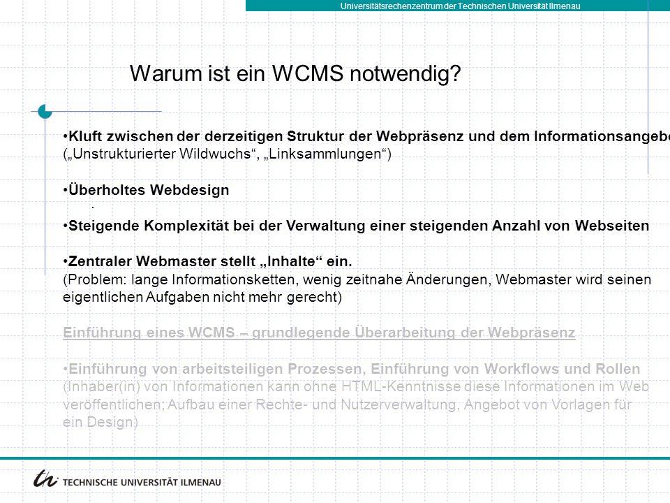 Warum ist ein WCMS notwendig