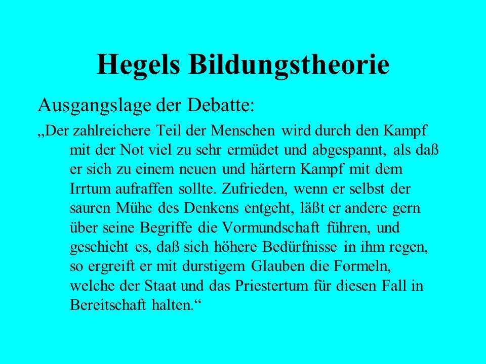 Hegels Bildungstheorie