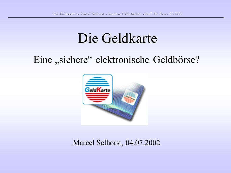 """Eine """"sichere elektronische Geldbörse"""