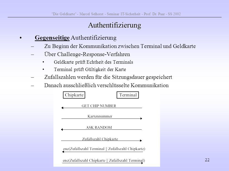 Authentifizierung Gegenseitige Authentifizierung