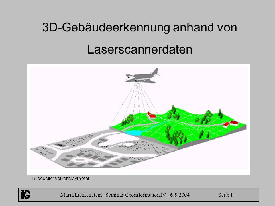 3D-Gebäudeerkennung anhand von Laserscannerdaten