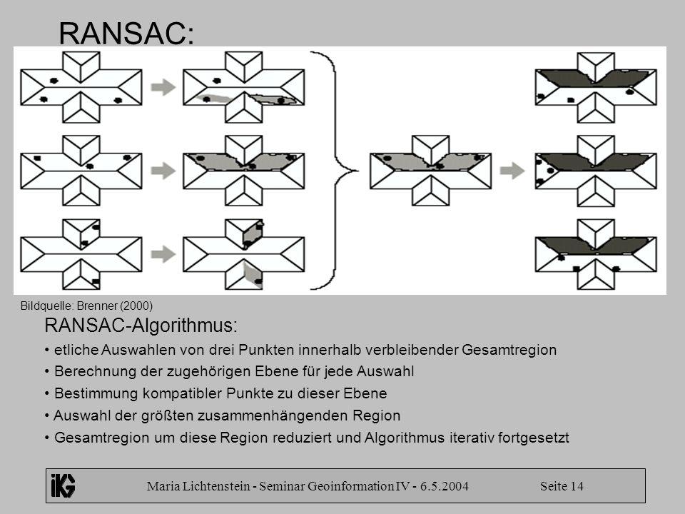 Maria Lichtenstein - Seminar Geoinformation IV - 6.5.2004 Seite 14