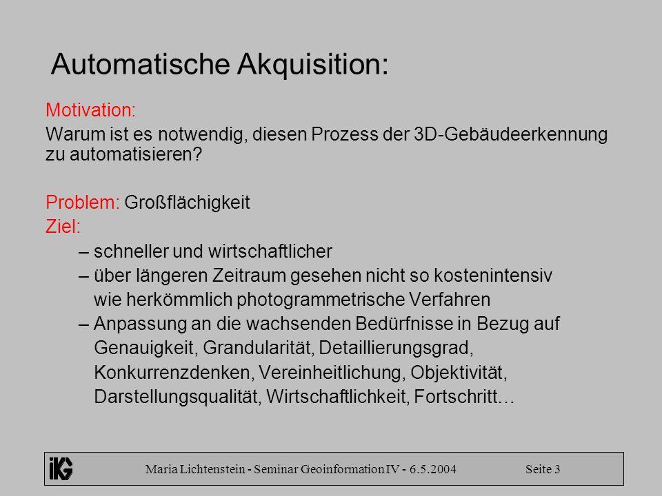 Automatische Akquisition: