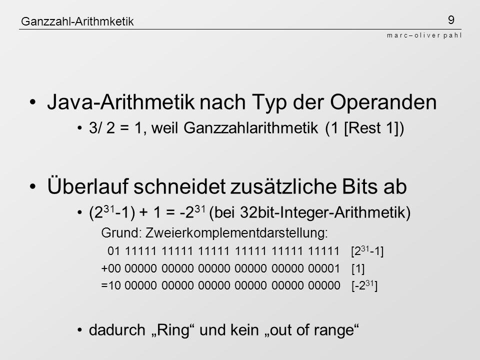 Ganzzahl-Arithmketik
