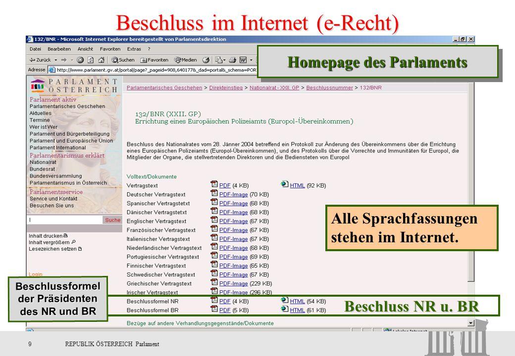 Beschluss im Internet (e-Recht)