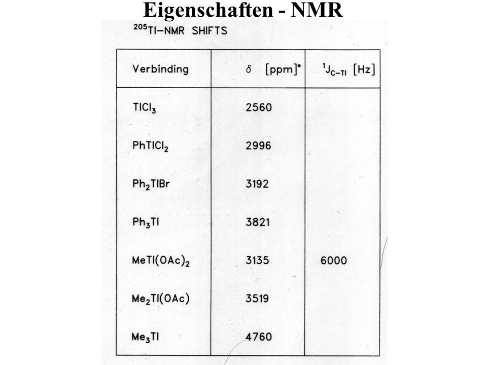 Eigenschaften - NMR