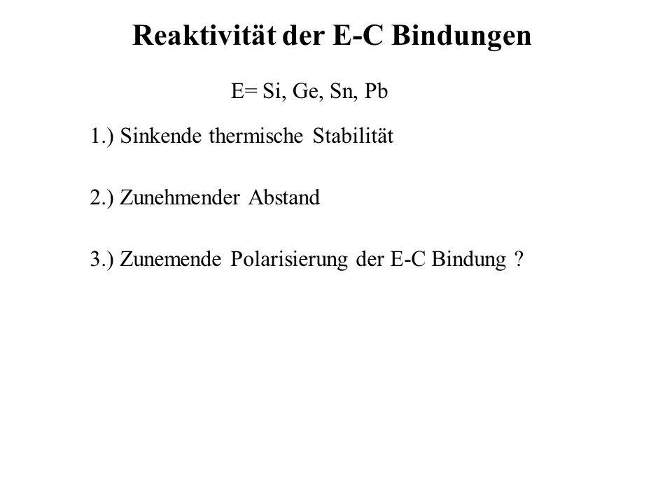Reaktivität der E-C Bindungen