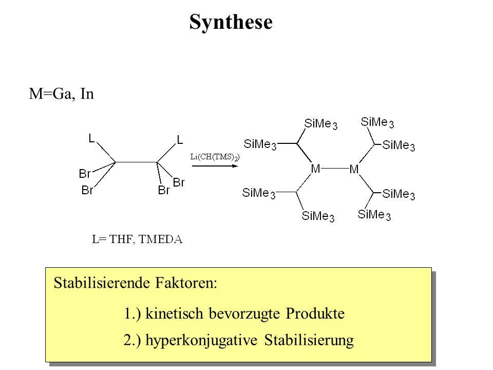 Synthese M=Ga, In Stabilisierende Faktoren: