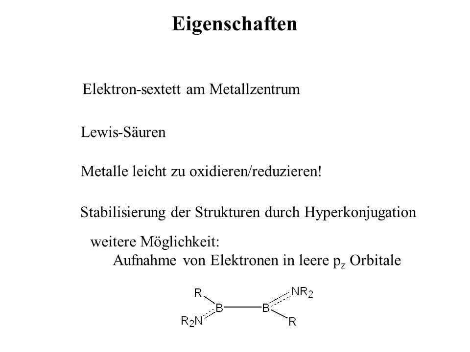 Eigenschaften Elektron-sextett am Metallzentrum Lewis-Säuren