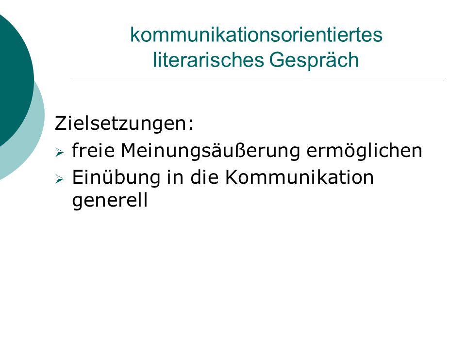 kommunikationsorientiertes literarisches Gespräch