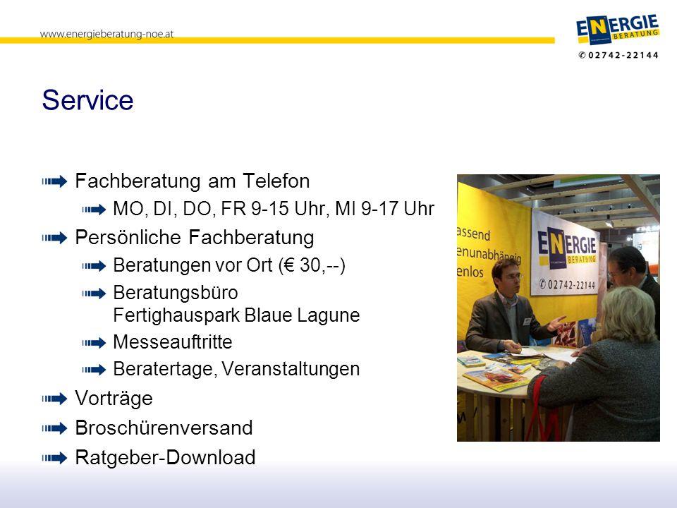 Service Fachberatung am Telefon Persönliche Fachberatung Vorträge
