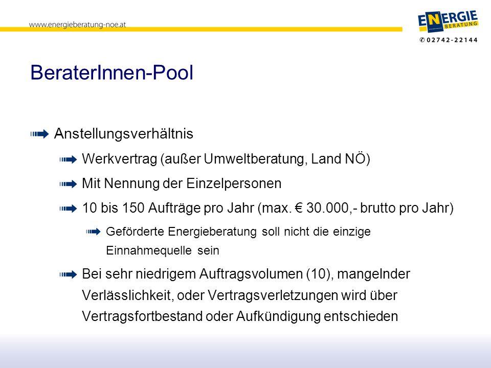 BeraterInnen-Pool Anstellungsverhältnis
