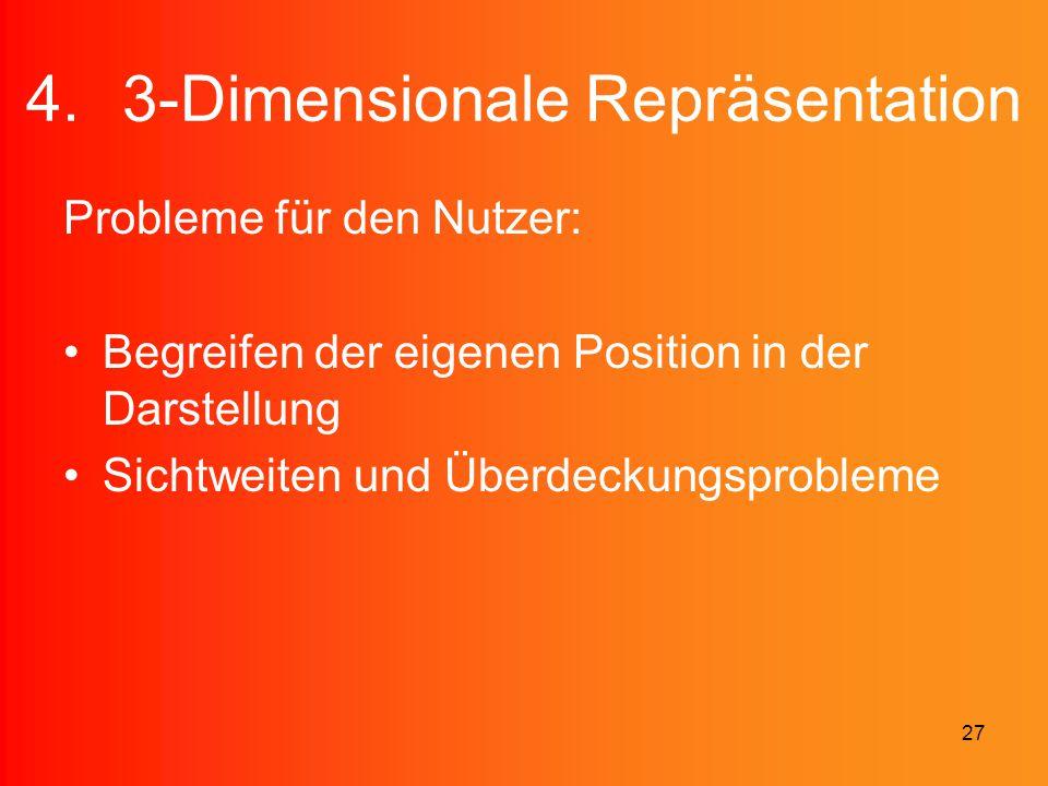 3-Dimensionale Repräsentation