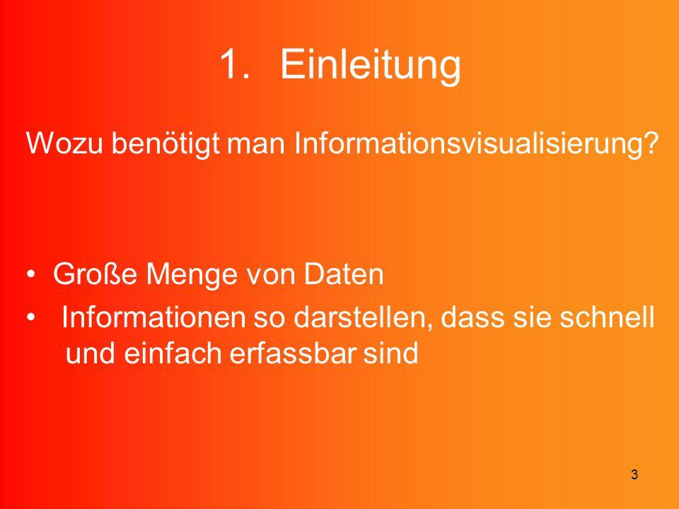 Einleitung Wozu benötigt man Informationsvisualisierung