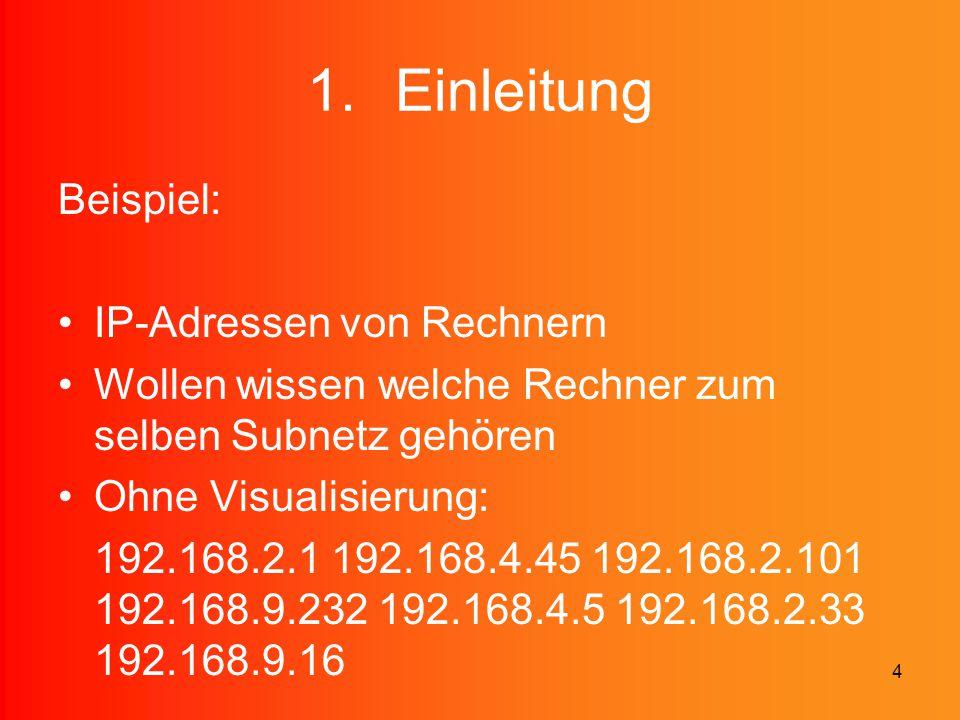 Einleitung Beispiel: IP-Adressen von Rechnern